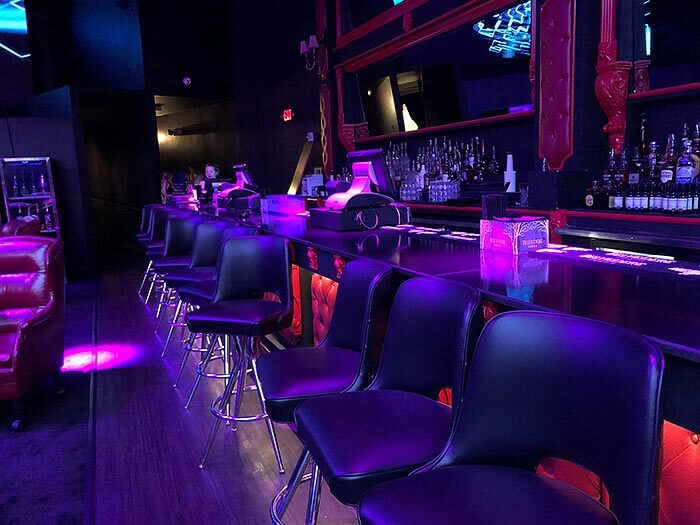 One of our bars at Miami's Gold Rush Cabaret