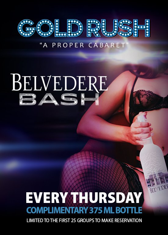 Belvedere Bash Every Thursday Night at Gold Rush Cabaret Miami