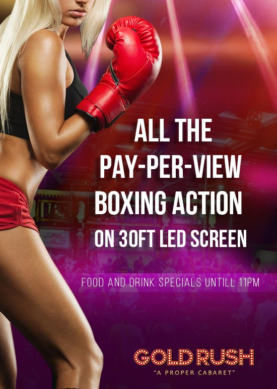 Watch PPV Boxing at Gold Rush Cabaret in Miami