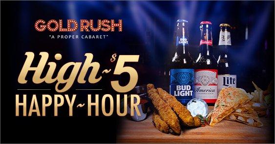 GoldRush Cabaret Miami High 5 Happy Hour